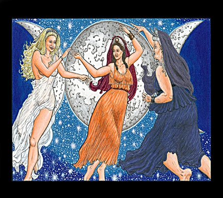 Triple Moon Goddesses~ - mother, female, crone, maiden