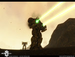Atlas Battlemech Firing Lasers