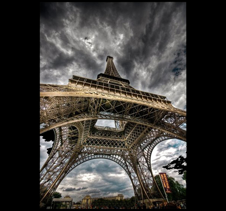 Eiffel Tower - cool, france, clouds, sky, hot, monuments, towers, eiffel