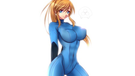 Anime Zero Suit Samus - other m, samus, metroid, blond, anime, zero suit