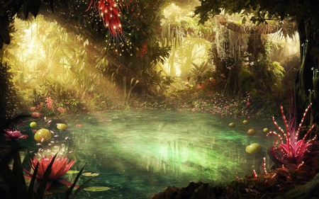 Mystical jungle forests nature background wallpapers - Mystical background pictures ...