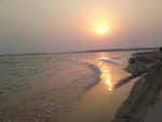 sunset at khor aladeed beach
