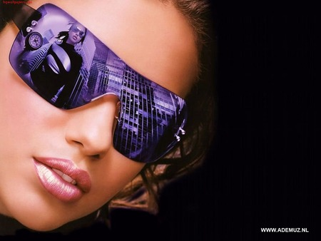 lips001 - sunglasses, sun glasses, lips, model