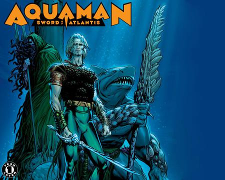 Aquaman - water, comic, aquaman, hero, shark