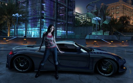Need For Speed - adventure, nfs, fast, video game, girl, 2006, sportcar, racing, hd, need for speed-carbon, need for speed, speed, car