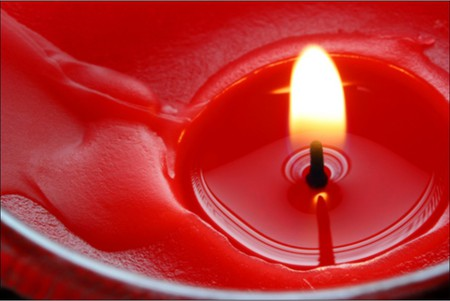 red candle - light, flame, candle, nice, color, red, vax