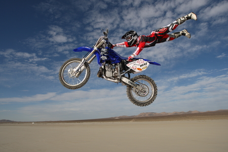 Motorcrossing At Desert - photography, sport, desert, motorcross, yamaha