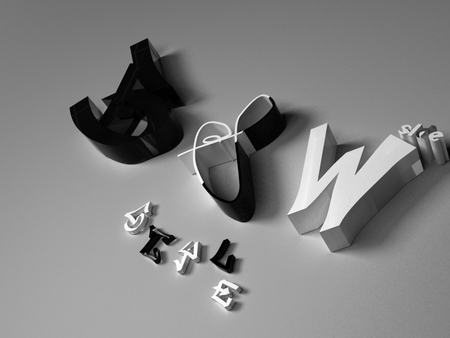Black and White - symbol, style, black, black and white, emble, words, vray, 3d max, wallpaper, white, text, and