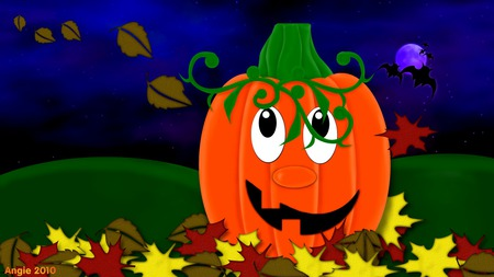Mr Pumpkin - halloween, fall, illustration, autumn, pumpkin