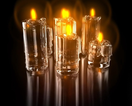 candles - 3d, art, candle, cg