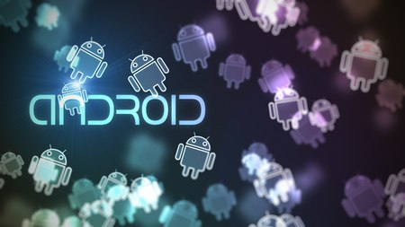 Android - android, droid, purple, logo, blue, icon