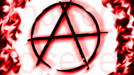 Anarchy symbol - alphabet, cool, red, anarchy