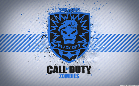 Call of Duty: Black Ops Zombies - fantastic, blue, playstation, company, console, nice, awesome, patch, game, skull, level, call of duty black ops, pc, activision, fps, cool, cod, playstation 3, blood, white, xbox 360, emblem, xbox, treyarch, black, 360, confirmed, black ops, tag, zombies, wii, eagle, computer, soldier, survive