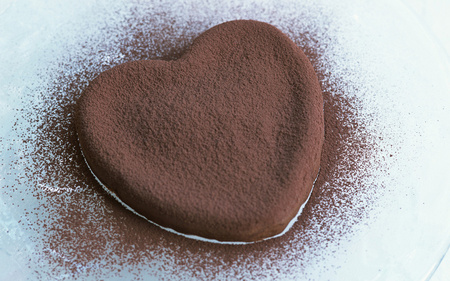 Chocolate heart - nice, photography, cute, romantic, delicious, chocolate, sweet, heart