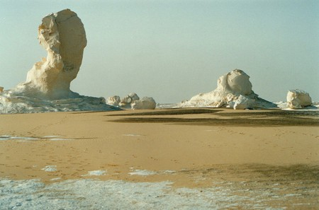 White Desert Egypt - chalk, formation, cream, formations, sand, arid