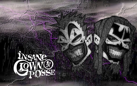 Insane Clown Posse Art - rap, black, purple, insane clown posse, juggalo, drawing, music, rock, clown