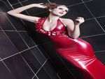 RED LATEX FANCY DRESS