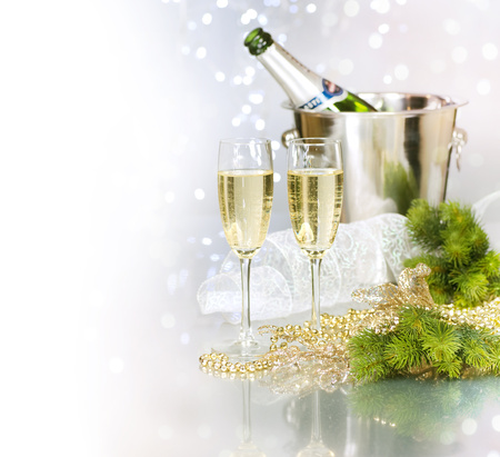 Happy New Year - happy new year, cool, nice, beautiful, champagne, merry christmas, glasses, holiday