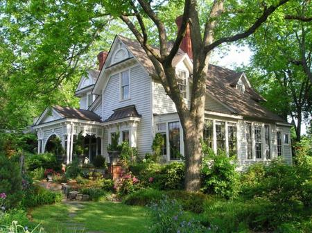 Beautiful Home Flower Gardens beautiful house flowers garden - houses & architecture background
