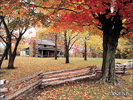 autumn cabin wallpaper desktop - photo #29