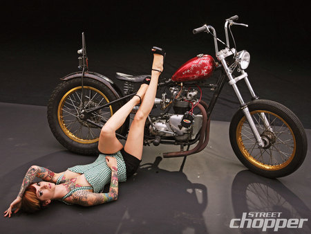 1971 Triumph - bike, triumph, model, floor