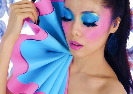 MAGICAL  MAKEUP - makeup, woman, model, pink, blue, pretty, lashes, magical