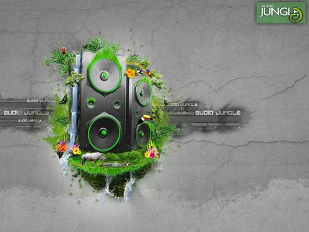 Audio Jungle - cool, speacker, abstract, jungle, audio, 3d, musik, audio jungle, loudspeaker, speakers
