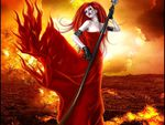 RED FIRE  WOMAN