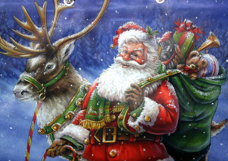 Jolly old Saint Nicholas - holidays, christmas, xmas, jolly