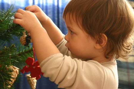 Christmas-decoration - christmas-tree, cute, abstract, christmas, kid, funny, photography, children, christmas-decoration