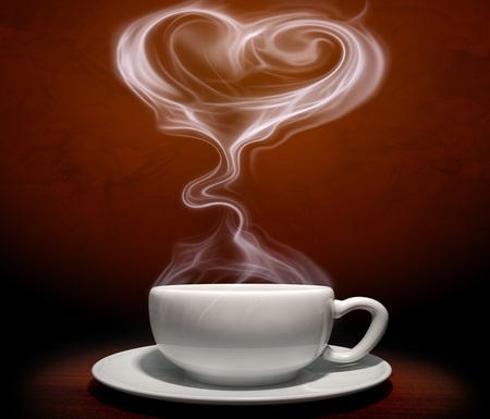 Coffee Time - cup, beautiful, coffee, pretty, lovely, beauty, heart, nice, photography, cup of coffee, white