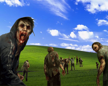 Windows XP Zombies - xp, zombies, clouds, windows, windows xp, microsoft
