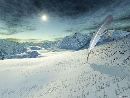 Writing Something On Icedesert