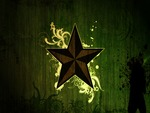 Star on green