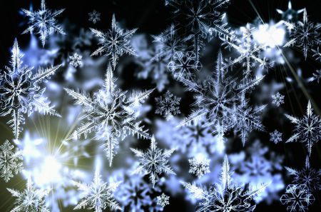 Snowflakes - nice, snowflakes, snow, 3d, abstract, winter
