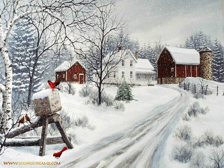 Farm winter - Winter & Nature Background Wallpapers on Desktop ...