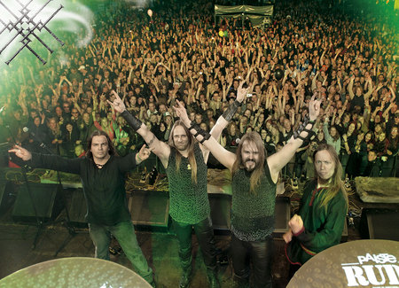 Metsatoll - viking, live, concert, group shot, metsatoll, pagan, folk, band, heavy, metal