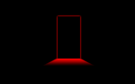 blacknred - red, door, black, silohuette