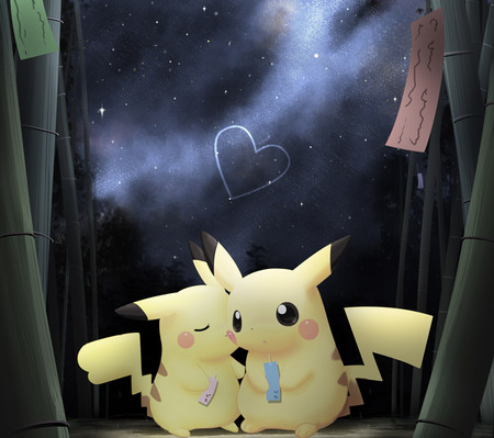 Pikachu love - kawaii, pokemon, chibi, pikachu