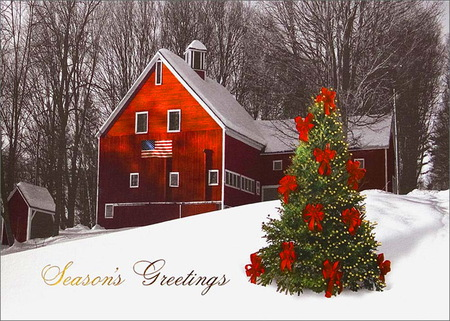 Seasons Greetings America - 3D and CG & Abstract Background ...