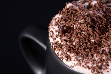 Cappuccino - cool, photography, nice, black, photo, chocolate, beautiful, cappuccino, coffee, delicious, drink, cream