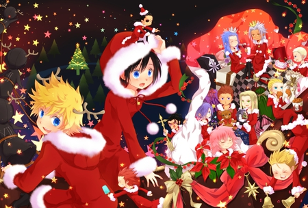 KH merry xmas - Kingdom Hearts & Video Games Background Wallpapers ...