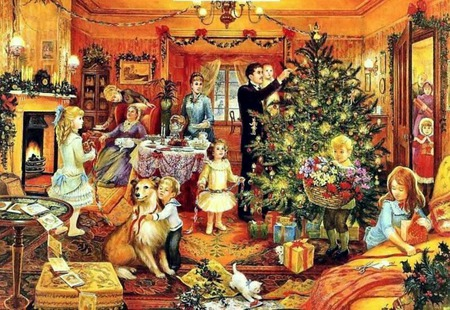 Christmas Dinner - Other & Abstract Background Wallpapers on ...