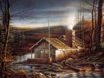 Terry Redlin painting - Changing season autumn