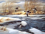 Terry Redlin painting - Rifting