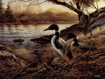 Hidden point, painting by Terry Redlin