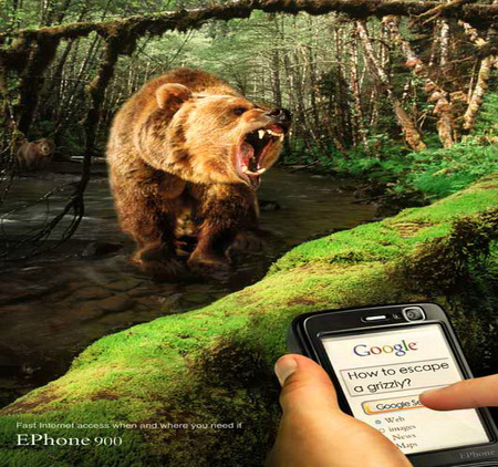 Help from Google - bear, angry, advice, attack, danger, google