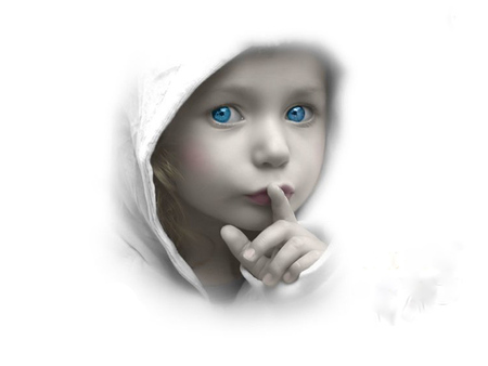 Shhh..... - abstract, quiet, angelic, child