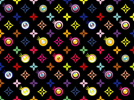 Louis Vuitton Black Eye - louis vuitton, fashion, black, clothing brand, pattern, black eye, - abstract
