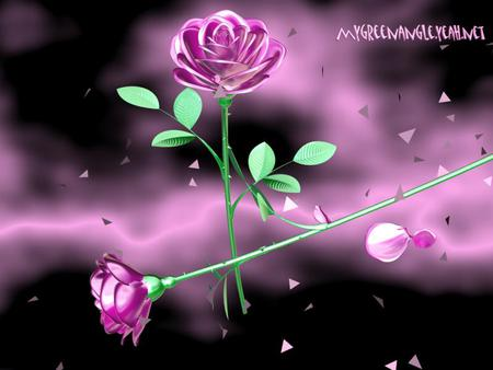 Crystal roses - 3D and CG & Abstract Background Wallpapers ...